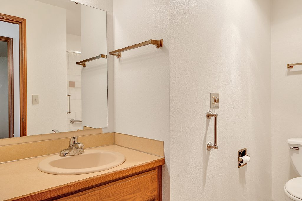 There is a full guest bath adjacent to the guest bedroom as well.