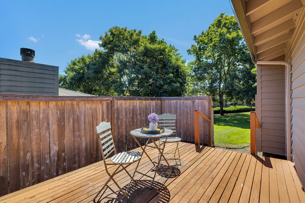 Step through the gate off the deck to access the beautiful greenbelt.