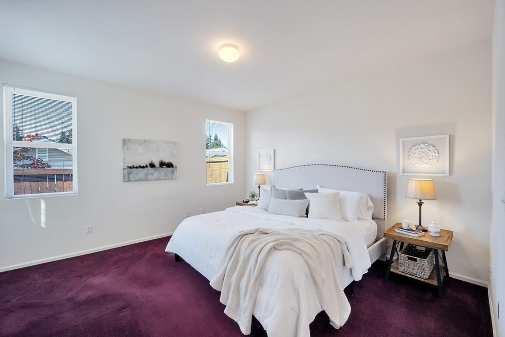 The owner's suite can easily accommodate a king-sized bed and additional furniture.